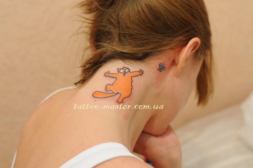 Сделать татуировку на шее в Киеве - Студия татуировки  ТМ